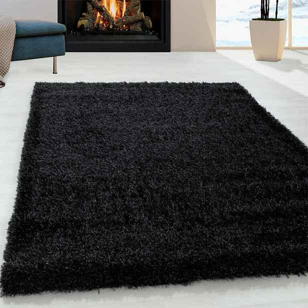 Vopi Kusový koberec SHAGGY Brilliant černý 120 x 170 cm