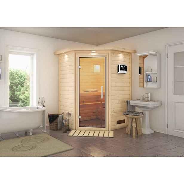 Interiérová finská sauna 146 x 146 cm Dekorhome