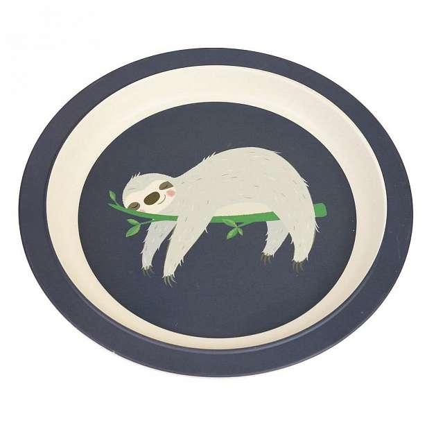 Dětský talíř z bambusu Rex London Sydney the Sloth