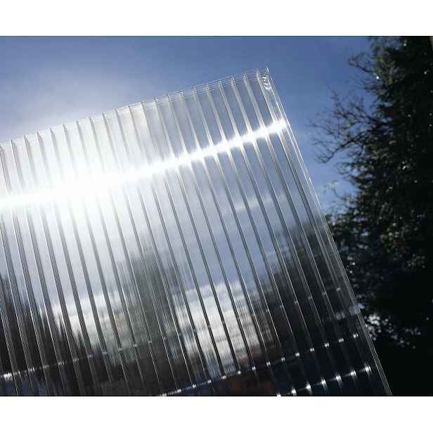 Hliníková pergola 3,12 x 3 m antracit / polykarboná Průhledná (čirá)