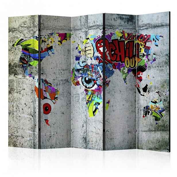 Paraván Graffiti World Dekorhome