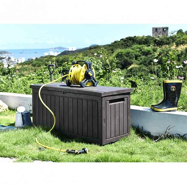 Zahradní úložný box DAGON 285l hnědá Tempo Kondela