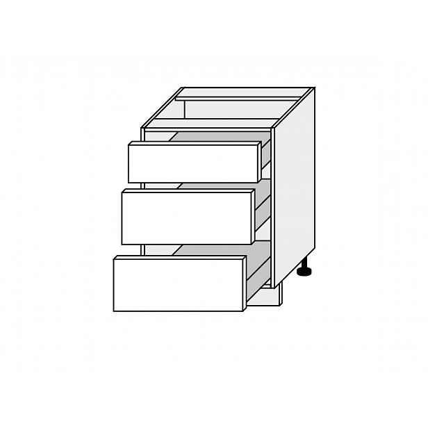 EMPORIUM, skříňka dolní D3H 60, korpus: bílý, barva: white