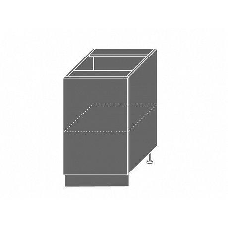 PLATINUM, skříňka dolní D1d 50, korpus: grey, barva: white