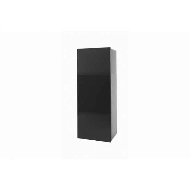 Ordia závěsná skřínka  Dekor Ordia: Dekor Bílá/černý lesk HELCEL