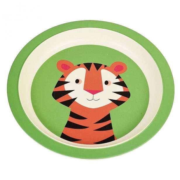 Dětský talíř z bambusu Rex London Teddy the Tiger