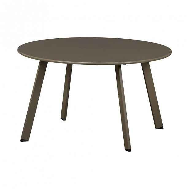 Železný zahradní konferenční stolek WOOD Fer,ø70cm