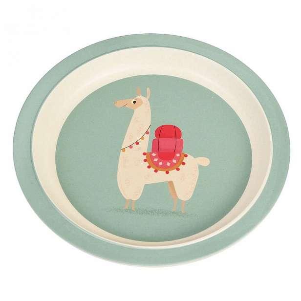 Dětský talíř z bambusu Rex London Llama
