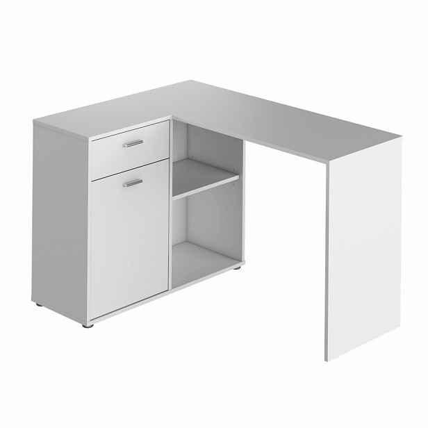 PC stůl rohový KALIMERO Tempo Kondela Bílá