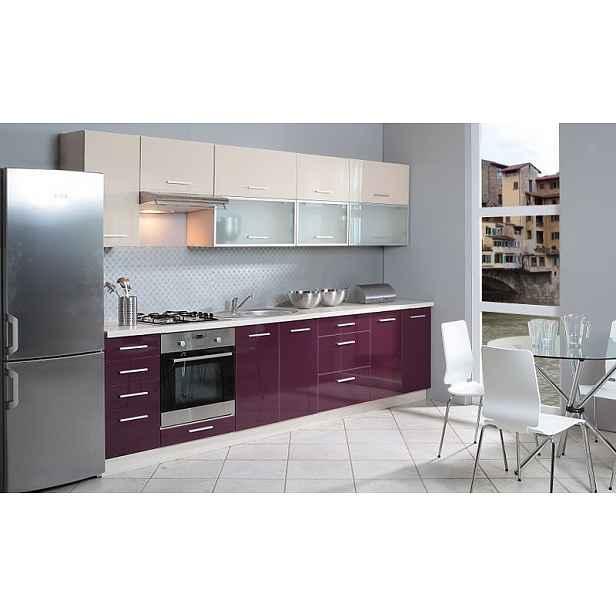 Luxusní kuchynská linka Platinum C, vysoký lesk!  Kuchyně EXT : Dekor Fialová HELCEL