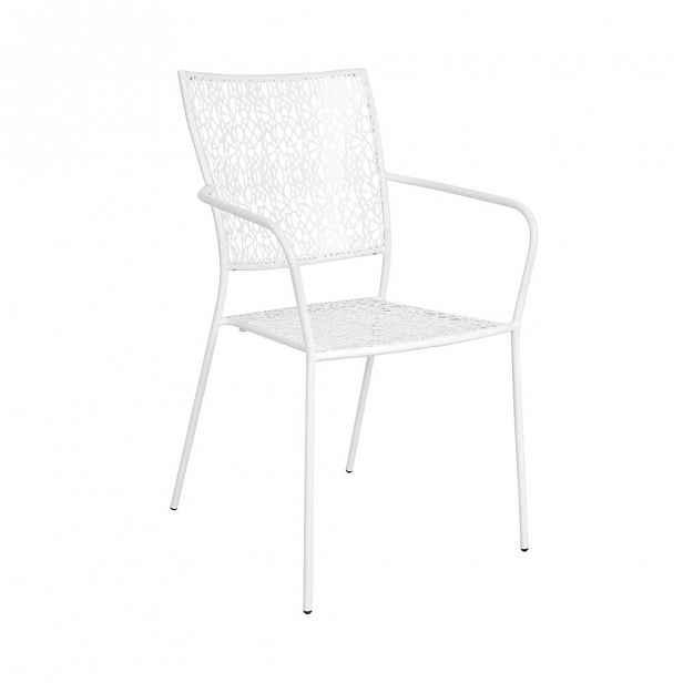 NANCY Židle s područkami - bílá