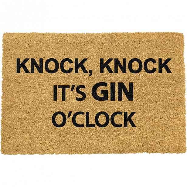 Rohožka z přírodního kokosového vlákna Artsy Doormats Gin O'Clock,40x60cm