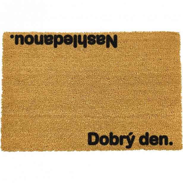 Rohožka z přírodního kokosového vlákna Artsy Doormats Nashledanou,40x60cm