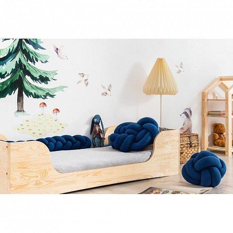 Sada 3 tmavě modrých bavlněných polštářů Adeko