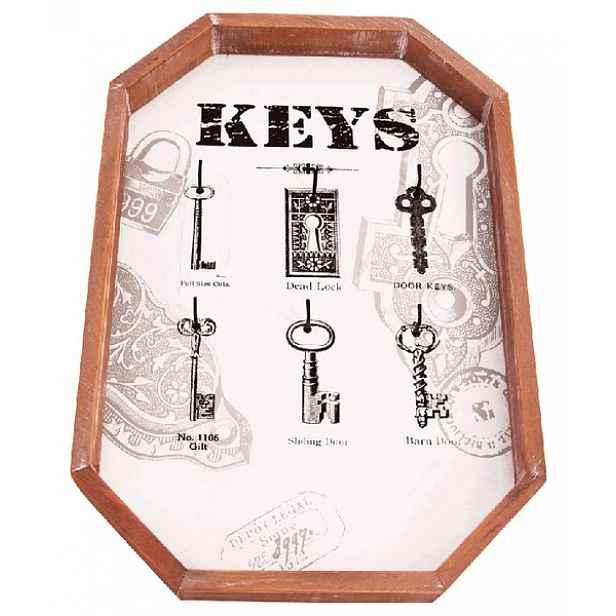 Nástěnný panel na klíče s 6 háčky 165031