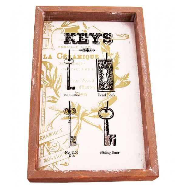 Nástěnný panel na klíče s 4 háčky 165011