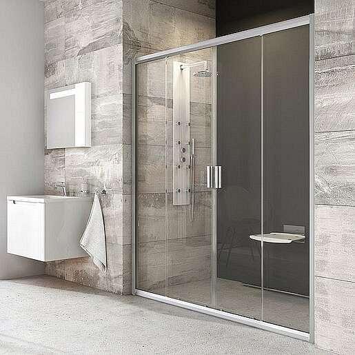 Sprchové dveře 200x190 cm Ravak Blix chrom matný 0YVK0U00Z1