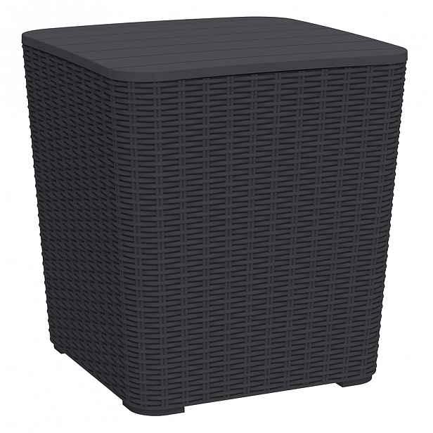 Zahradní stolek / úložný box UGUR Tempo Kondela Černá