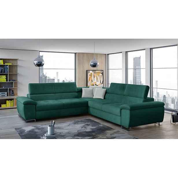 Luxusní sedací souprava Albino, zelená Velvet HELCEL