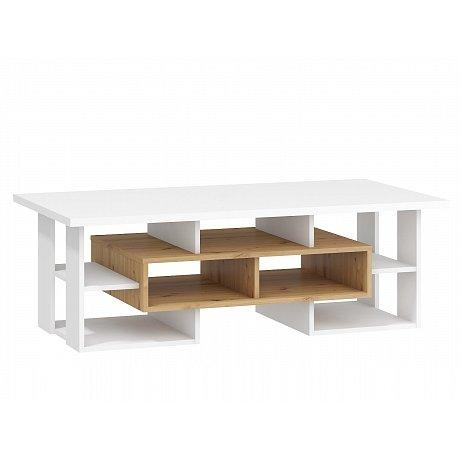 Konferenční stolek N RIO 11, dub artisan/bílá