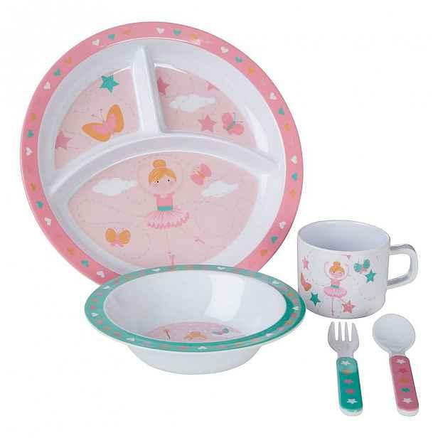 5dílný jídelní dětský set Premier Housewares Ballerina