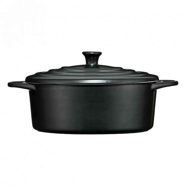 Černý kameninový hrnec Premier Housewares, 2,5 l