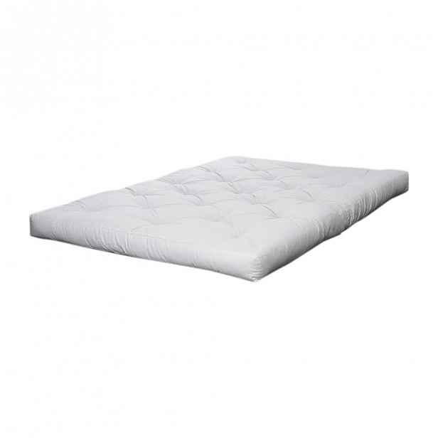 Krémová futonová matrace Karup Design Double Latex,90x200cm