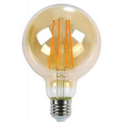 Žárovka LED E27 6W G125, FILAMENT AMBER