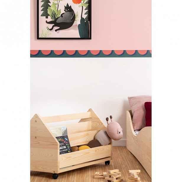 Pojízdný úložný box z borovicového dřeva Adeko Kutu Alma,60cm