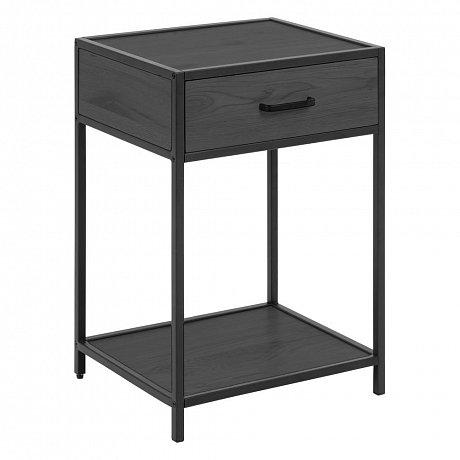 Černý noční stolek Actona Seaford,42x35cm