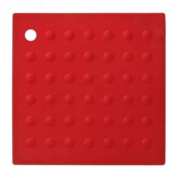 Červená silikonová podložka pod hrnce Premier Housewares Zing