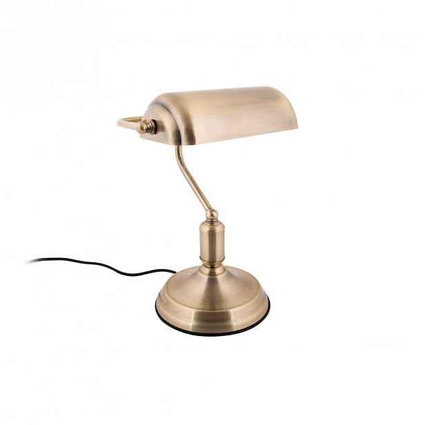 Stolní lampa ve zlaté barvě Leitmotiv Bank