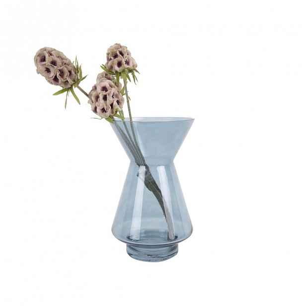 Modrá skleněná váza PT LIVING Glow,výška22cm
