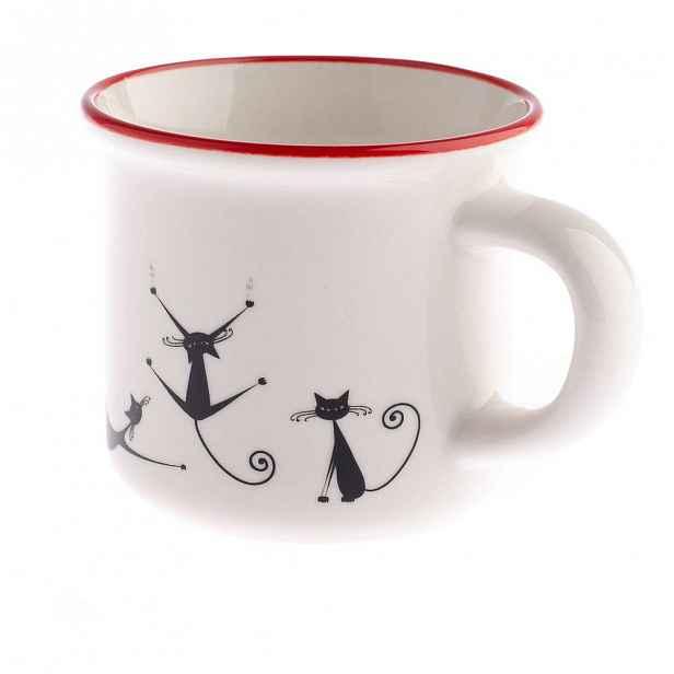 Porcelánový hrnek Dakls Cats Lilian, 75 ml