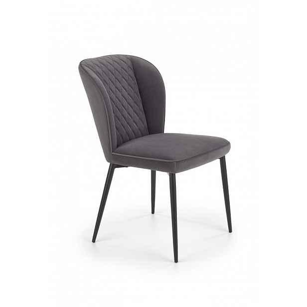 Jídelní židle K399 Halmar Šedá