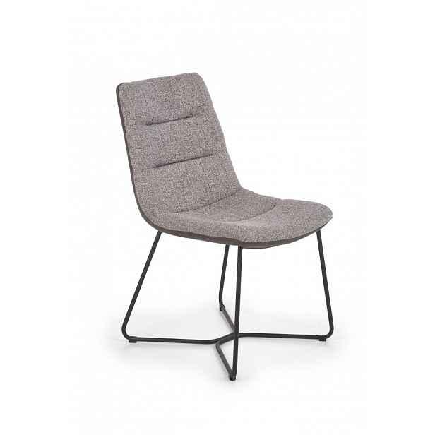 Jídelní židle K403 šedá / černá Halmar