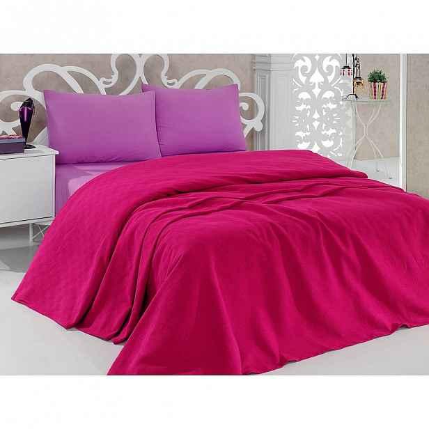 Přehoz přes postel Pique Magenta, 200x240 cm
