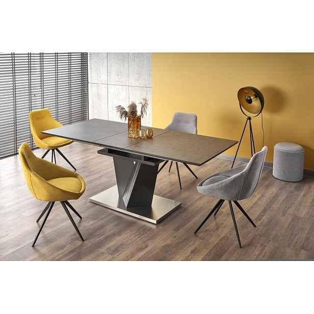 Rozkládací jídelní stůl SALVADOR tmavě šedá Halmar, 160 - 200 cm