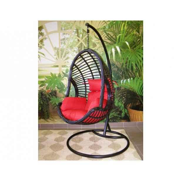 Závěsné relaxační křeslo DARA, červený sedák