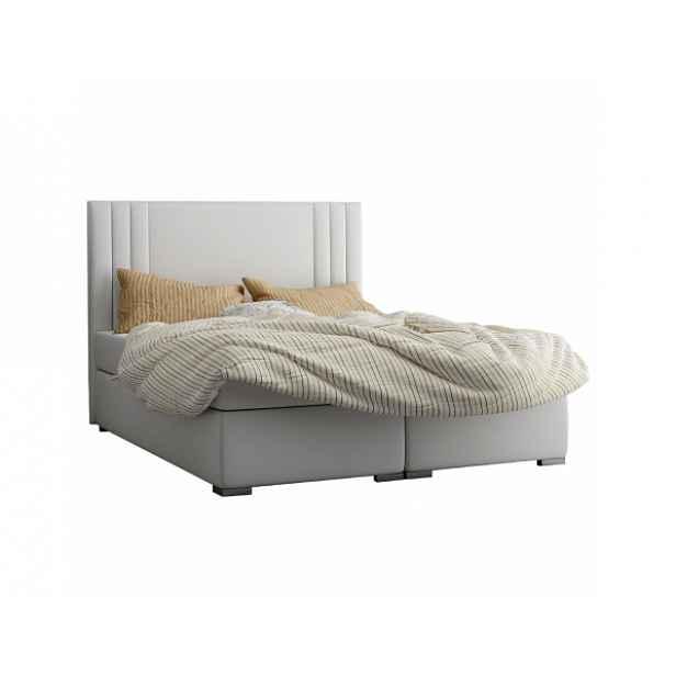Boxspring postel Stylis 180x200, světle šedá