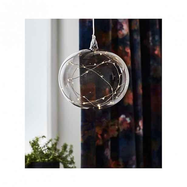 Šedá vánoční závěsná světelná dekorace MarkslöjdLina,ø18cm