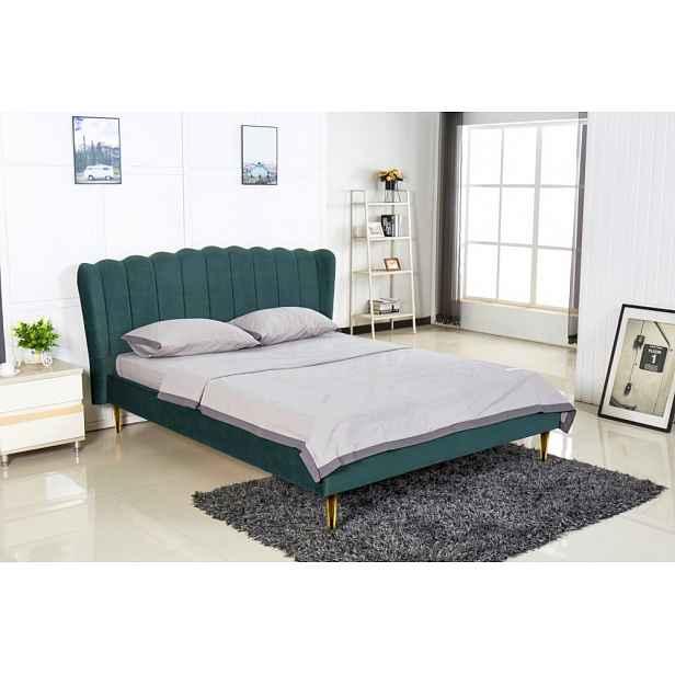 Manželská postel VALVERDE 160 Halmar Tmavě zelená