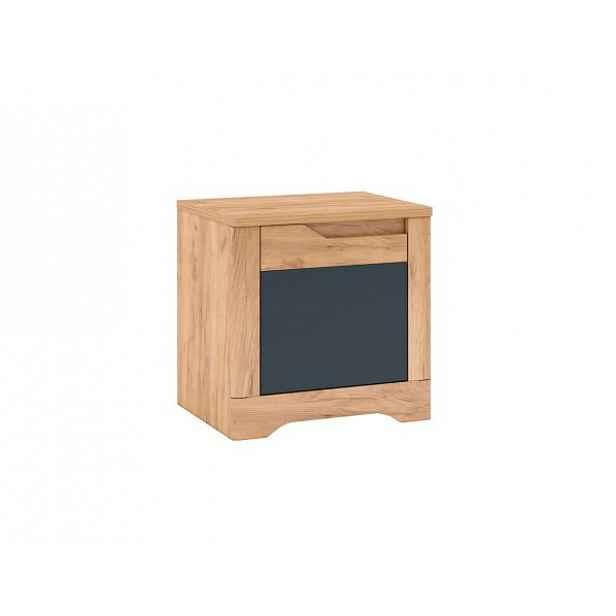 Noční stolek Fency X1, dub craft zlatý / grafit