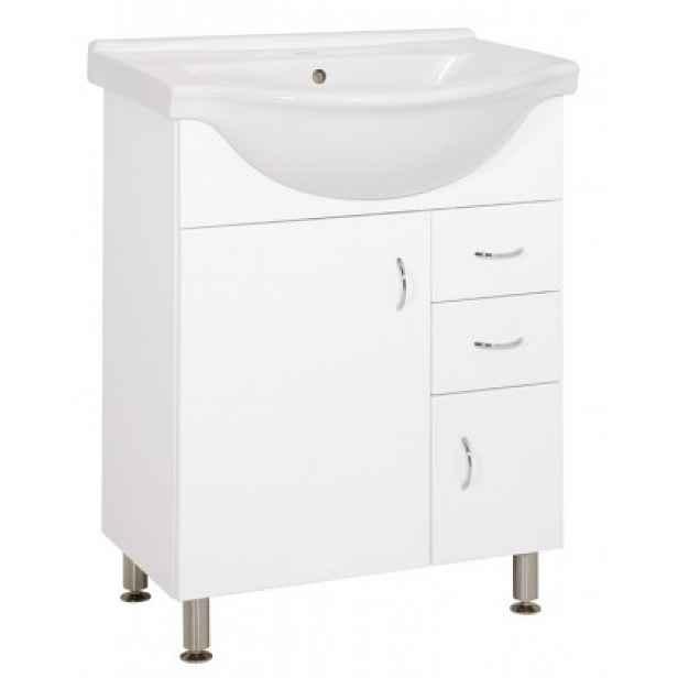 Koupelnová skříňka s umyvadlem Cara Mia 65,8x85x51,4cm,bílá,lesk
