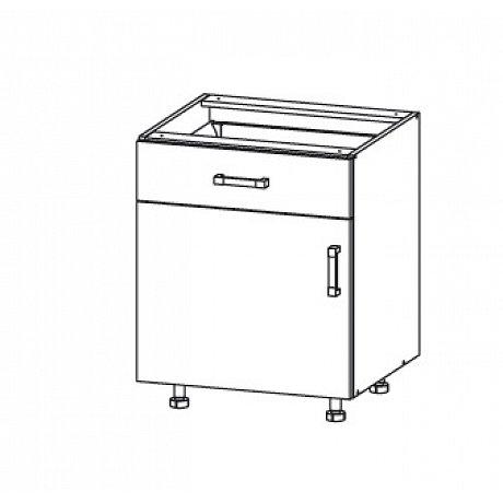 SOLE dolní skříňka D1S 60 SMARTBOX levá, korpus wenge, dvířka dub arlington