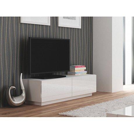 LIVO RTV-160S televizní stolek stojící, bílá