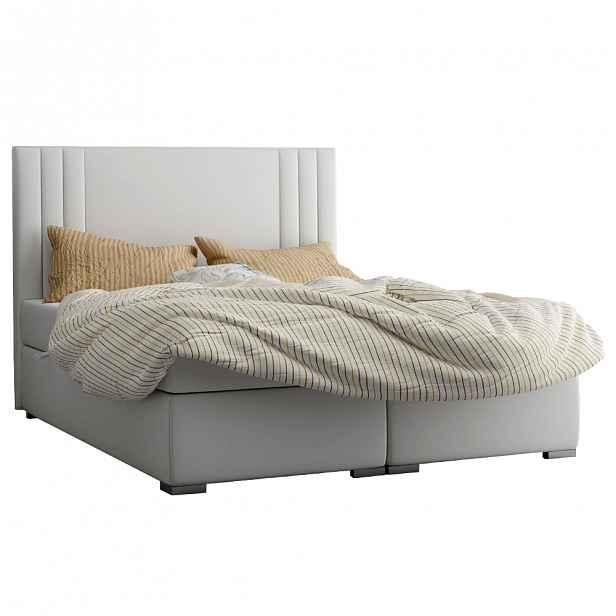 Boxspringová postel MARTINI světle šedá Tempo Kondela 180 x 200 cm