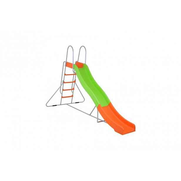 Skluzavka se žebříkem 310 cm GH2226 zelená / oranžová