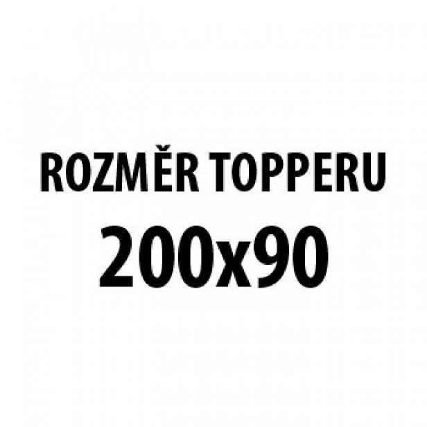 Jena HR - Topper 200x90, potah Kwatro