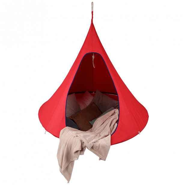 Závěsné křeslo KLORIN 120 x 120 cm Tempo Kondela Červená
